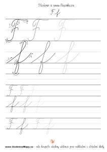 List písanky se psacím F,f.