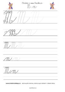 Jak psát psací písmeno M.
