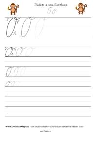 Jak psát psací písmeno O.